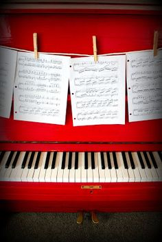 Red Piano! Find a cheap piano on craigslist and paint it red.- I'd like to do this for Al someday!