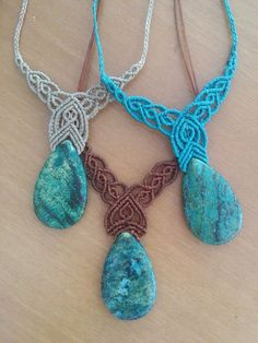 Excited to share the latest addition to my #etsy shop: Chrysocolla Macrame Pendant,Chrysocolla Necklace,Healing Stone https://etsy.me/2J1i3Ep #jewelry #necklace #women #stone #victorian #chrysocollapendant #chrysocollanecklace #macramenecklace #turquoisechrysocolla