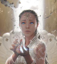Moonchild - NeverEnding Story by Steve99 (cropped for detail). Fantasy character inspiration.