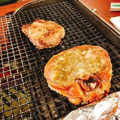 フルコンボ ポークチャップと生紅ズワイガニ #小樽の夜