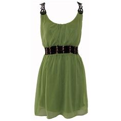 Green Chiffon Lace Back Dress ($35) ❤ liked on Polyvore featuring dresses, vestidos, green, robes, chiffon dress, chiffon cocktail dresses, lace back dress, green chiffon dress and green dress
