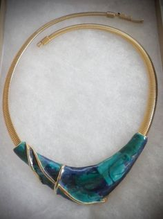 Vintage Gold Toned Snake Chain Choker by MartysAtticAuctions