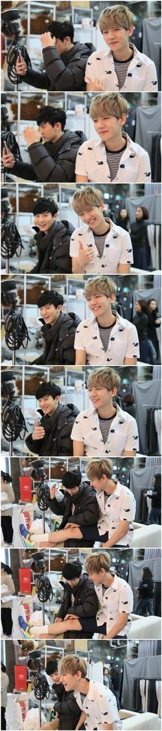 Omg baekhyun and Chanyeol !! *-* They're so adorable!! ♥♥
