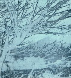 """""""Sugar Loaf"""" Co Wicklow Photo etching print x Etching Prints, Space Gallery, Snow, Mountains, Sugar, Outdoor, Art, Art Background, Kunst"""