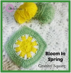 This is a fun bright crochet blanket square. Bloom In Spring Granny Square - Media - Crochet Me