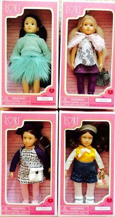 "Lori by Our Generation 6"" Mini Dolls Lori Zarya Tama Naomi Lot of 4 w/ Outfits #Dolls"