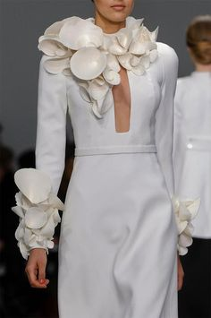 Shell chic...Stephane Rolland Spring 2013 Couture