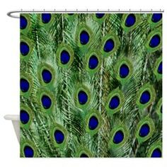 My Peacock Feathers Shower Curtain