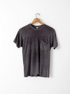 vintage black t-shirt with pocket