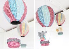 DiY : montgolfière en papier mâché