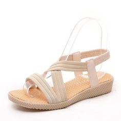 Cheap sandals low heel, Buy Quality women summer sandals directly from China flat sandals Suppliers: 2017 Bohemian Women Summer  Sandals low Heel Flip  flat sandals With Sunflower Beads Flat flat sandals  Size 36-40 .HYKL