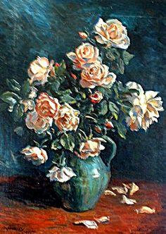 Rosas de mi huerto.óleo