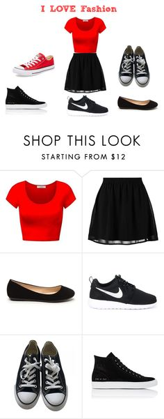 """""""Many Shoe Choices"""" by fiercebitch19 ❤ liked on Polyvore featuring beauty, even&odd, NIKE, Converse and Common Projects"""