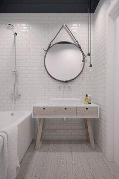 14 Awesome Scandinavian Bathroom Ideas  interesting tiling
