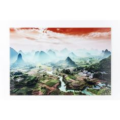 Superbly serene, the striking colours and shades of this awe-inspiring natural landscape bring a defining character to any decor with its intricate detail and exquisite scenes. Printed foil on tempered glass. River Pictures, Decorative Accessories, Serenity, Tapestry, Shades, Colours, Landscape, Wall Art, Detail