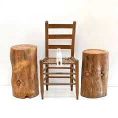 Stump Table Beary PEACE FULL by realwoodworks1 on Etsy, $245.00