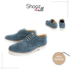 New! Ανδρικά παπούτσια τύπου oxford σε ξεχωριστή μπλε απόχρωση. Είναι…