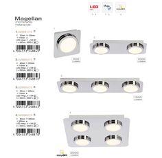 Plafoniera cu 3 Spoturi LED pentru baie cu protectie IP44 Magellan G29093/15 BL - Corpuri de iluminat, lustre, aplice