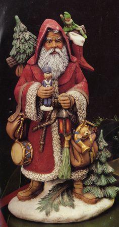 Old World  Huge Austrialian Santa ceramic bisque by TSoriginals, $21.75