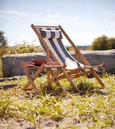 KEHENA DECK CHAIR Deck chair with Fabric Sling by gallantandjones