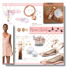 """""""Rose Gold for 2017"""" by beiacas ❤ liked on Polyvore featuring Diane Kordas, LE VIAN, Dorothy Perkins, Monique Lhuillier, Allurez, ChloBo, Michael Kors, Jayson Home, Camilla Christine and rosegold"""