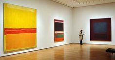 """""""No. 5/No. 22,"""" left, """"No. 3/No.13"""" center; """"No. 37/No. 19"""" right, all by Rothko"""