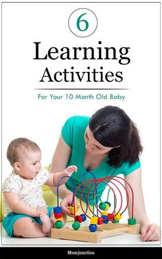 Feeling excited about your baby turning 10 months? Want to make learning more fun for your little one? Check out 6 fun activities for 10 months old baby here 10 Month Milestones Baby, 10 Month Old Baby Activities, Kids Learning Activities, Infant Activities, Baby Learning, Baby Development In Womb, Baby Development Milestones, Baby Development Chart, 10 Month Olds