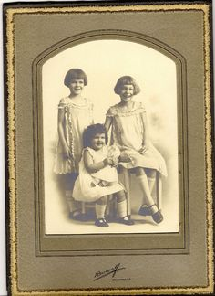 Three Sisters Antique Photograph