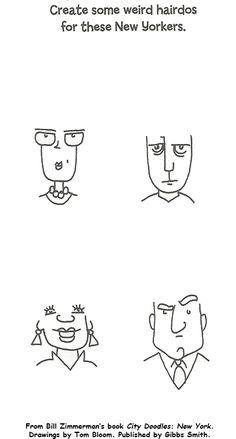 Draw Some Weird Hairdos - Make Beliefs Comix Painting Activities, Art Therapy Activities, Educational Activities, Counseling Worksheets, Art Worksheets, Finish The Drawing Worksheets, Mindfulness Books, Book City, Doodle Pages