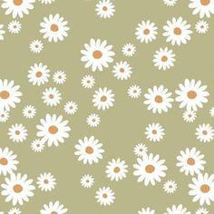 Colorful fabrics digitally printed by Spoonflower - Summer day daisies minimal abstract Scandinavian boho style nursery girls stone blue gray