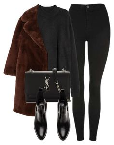 """Untitled #7065"" by laurenmboot ❤ liked on Polyvore featuring Topshop, MANGO and Yves Saint Laurent"