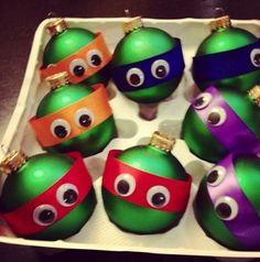 Homemade TMNT Christmas Tree Ornaments