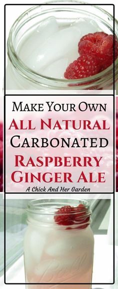 Trying to kick a soda habit? Try this homemade raspberry ginger ale recipe!
