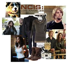 """Kensi and Deeks"" by vampi-s ❤ liked on Polyvore featuring Yves Saint Laurent, Levi's, Maison Margiela, French Connection, Maison Scotch, Gucci, los angeles, deeks, ncis and kensi"