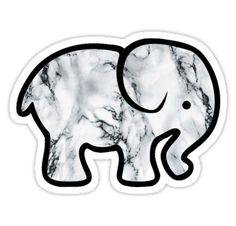 """Ivory Ella Marble Elephant"" Stickers by Macbook Stickers, Phone Stickers, Cool Stickers, Printable Stickers, Preppy Stickers, Red Bubble Stickers, Ivory Ella Stickers, Vsco, Head Shop"