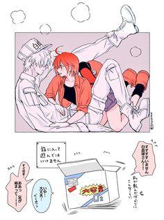 Hataraku Saibou (Cells at Work! Otaku Anime, Manga Anime, Anime Art, Cute Anime Pics, Cute Anime Couples, Anime Love, Pink Blood, Card Captor, White Blood Cells