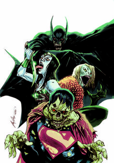 Justice League #35 variant cover by Rafael Albuquerque | DC Superheroes Get A Monster Mash-Up In October