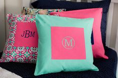 A personal favorite from my Etsy shop https://www.etsy.com/listing/497669488/mint-green-pink-pillow-cover-custom