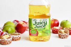 apple juice in plastic container