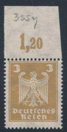 Germany stamp (GE). VERY FINE, og, NH (MI 400 Euros). Scott catalog value: $545. Stock # 340557 || #philately