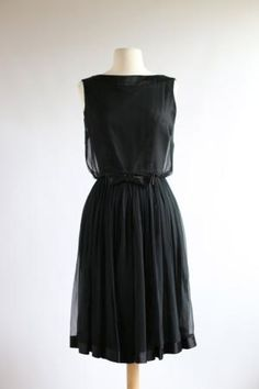 Vintage 1960s Audrey Dress ~ Vintage 60s Chiffon Party Dress ~ Vintage Little Black Dress by xtabayvintage on Etsy by marisa