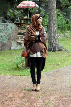 brown hijab