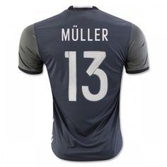 Tyskland 2016 Muller 13 Udebanetrøje Kortærmet.  http://www.fodboldsports.com/tyskland-2016-muller-13-udebanetroje-kortermet-1.  #fodboldtrøjer