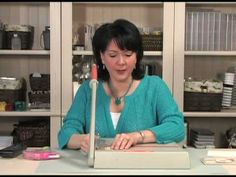 cardmaking video from GinaK   ... quilt card ... like her tips for adhering and zig zag sewing ... great card!