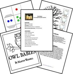 Free Owl Babies Lesson Plans and Lapbook