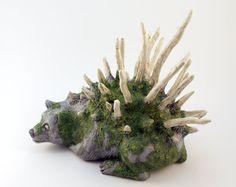 Polymer Clay Fantasy Creatures | Bear Art Fantasy Sculpture, Polymer Clay Forest Creature, Old Bear ...
