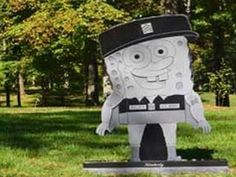 Iraq war veteran Kimberly Walker's towering SpongeBob SquarePants headstone.