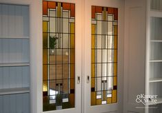 Art deco glas in lood One Light, Art Deco, Windows, Church Office, House, Stained Glass Windows, Inspiration, Home Decor, Glass Art