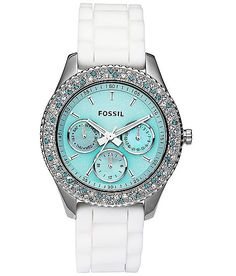 Fossil White & Blue Tiffany Watch