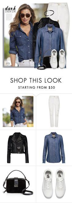 """""""*So Fresh: White Sneakers"""" by breathing-style ❤ liked on Polyvore featuring K. Jordan, River Island, Boohoo, L'Agence, Aqua and Vans"""